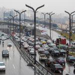 ترافیک سنگین در آزادراه تهران_ کرج